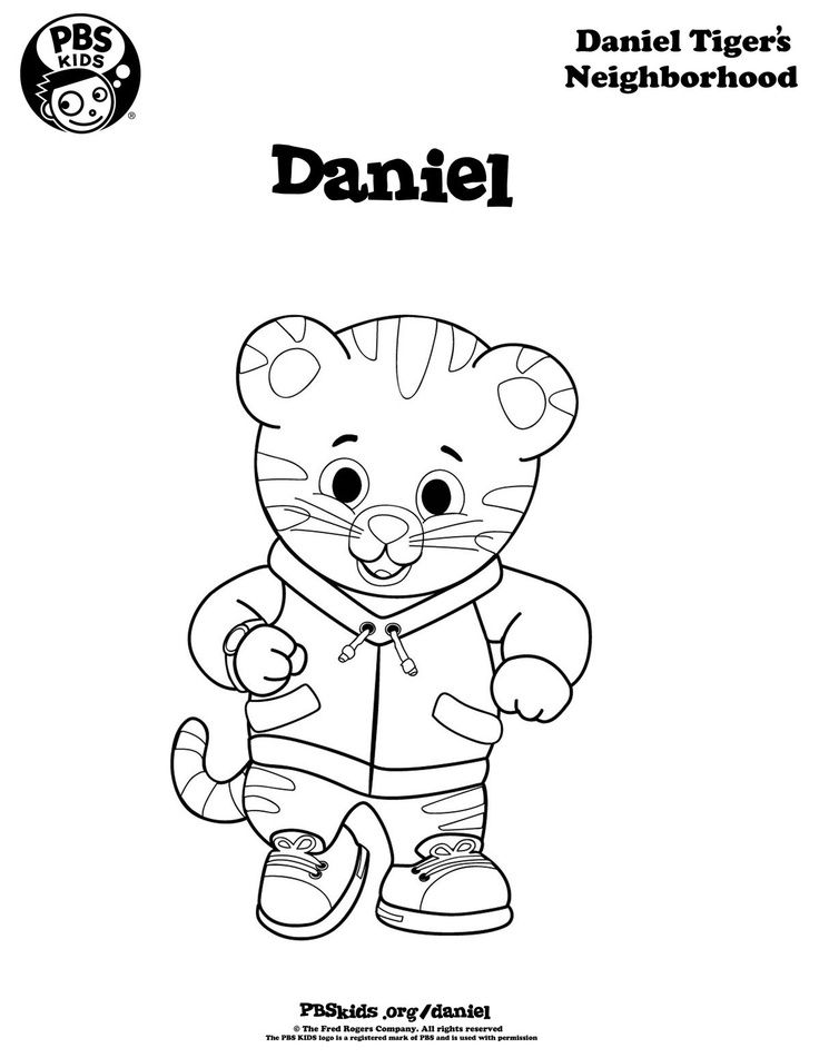 daniel tiger coloring pages daniel tiger coloring page