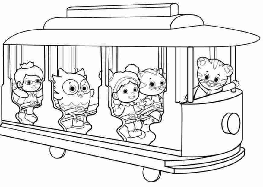 daniel tiger printable coloring pages daniel tiger coloring