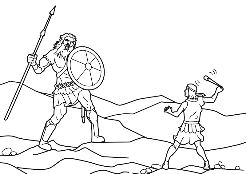 david and goliath coloring pages n2 free image