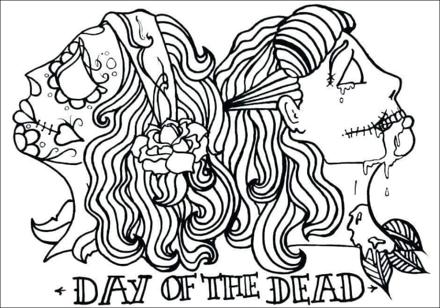 day of the dead coloring picture beautiful photos free