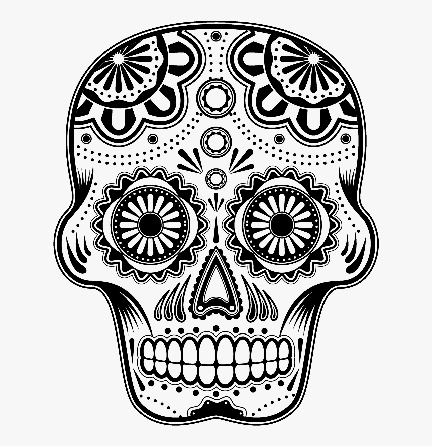 day of the dead skull png png download dia de los