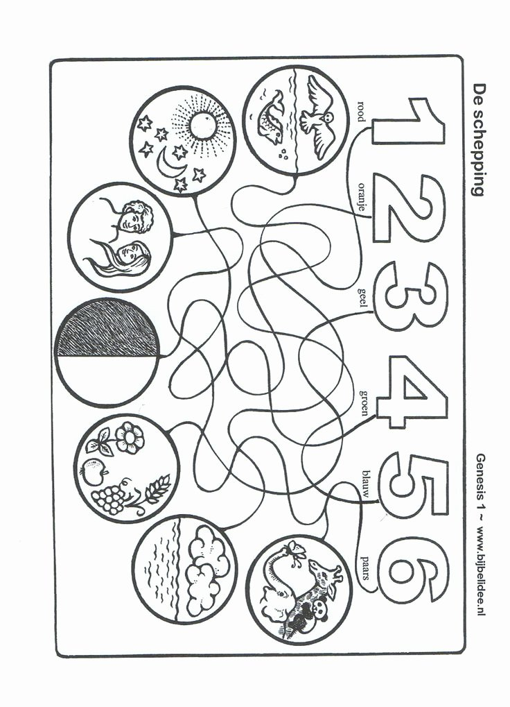 days of creation coloring page unique creation coloring