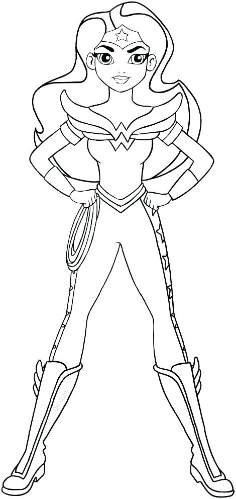 dc superhero girls wonder woman coloring pages