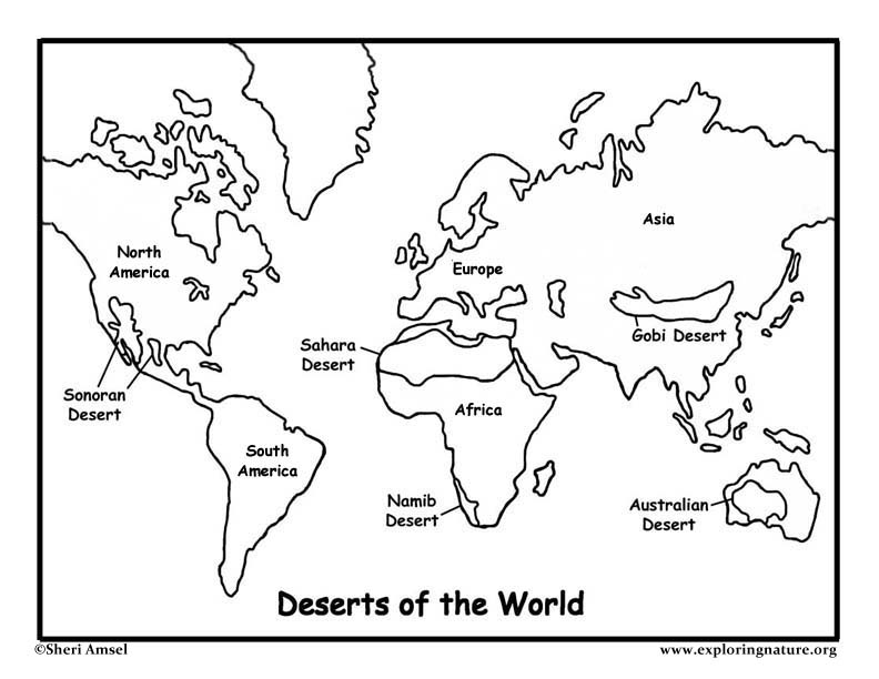 deserts of the world coloring page