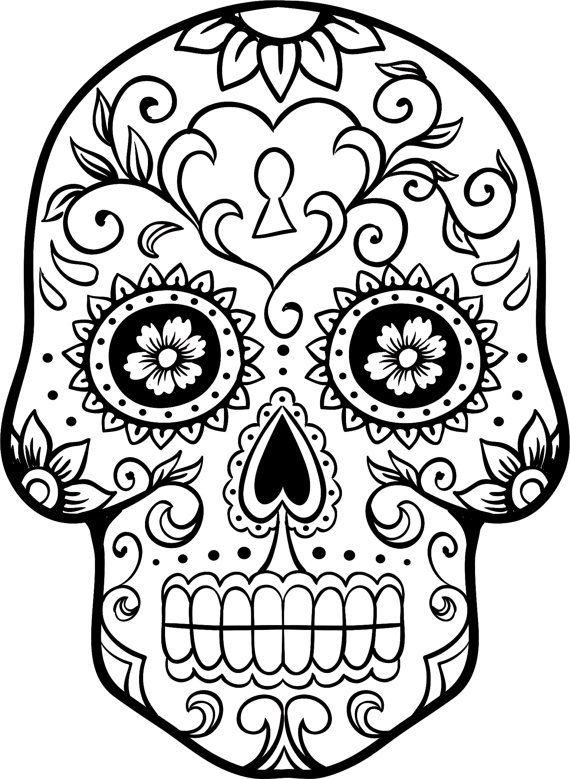 dia de los muertos skull coloring pages coloring pages
