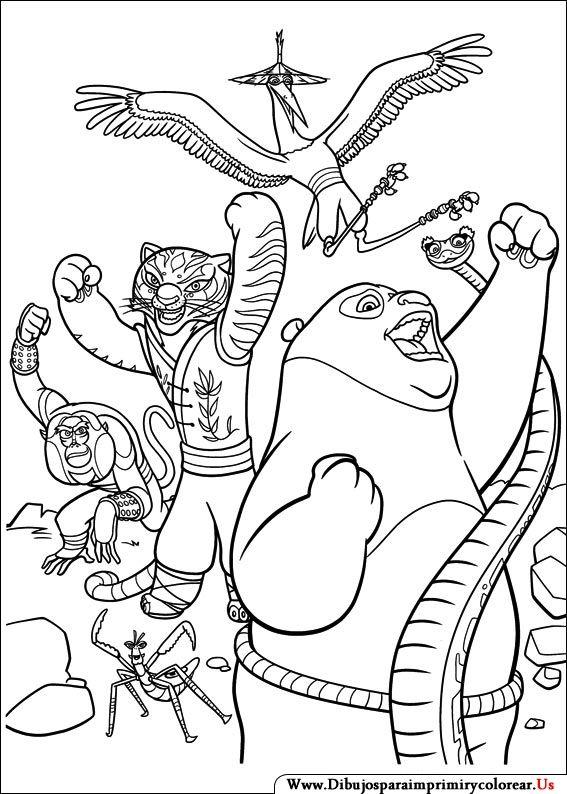 dibujos de kung fu panda para imprimir y colorear panda