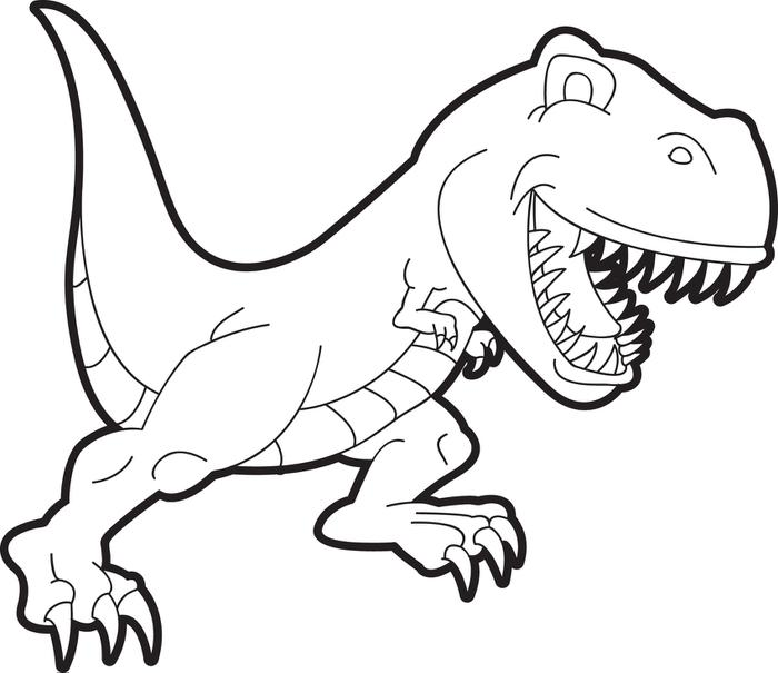 dinosaur coloring pages t rex