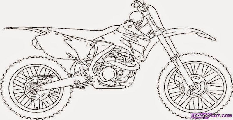 dirt bike coloring sheets printable 7 image teckningar
