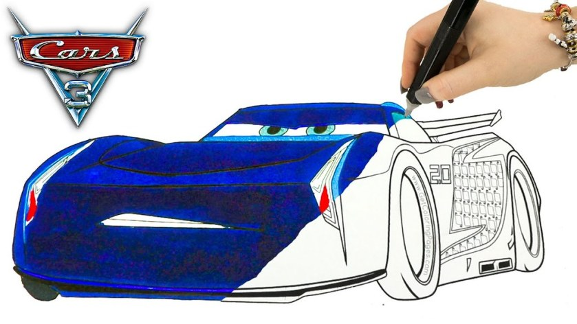 disney cars 3 coloring pages jackson storm lightning mcque