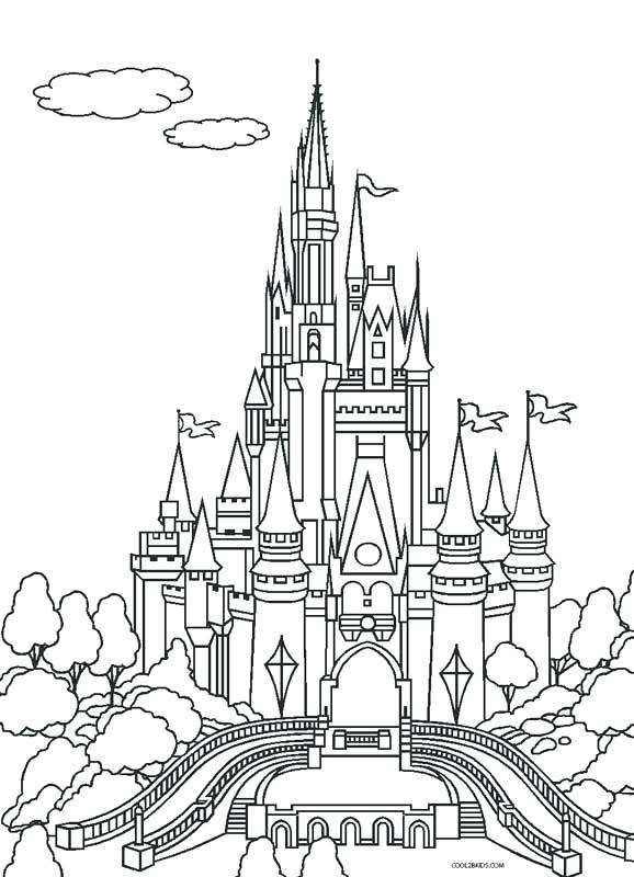 disney cinderella castle coloring pages