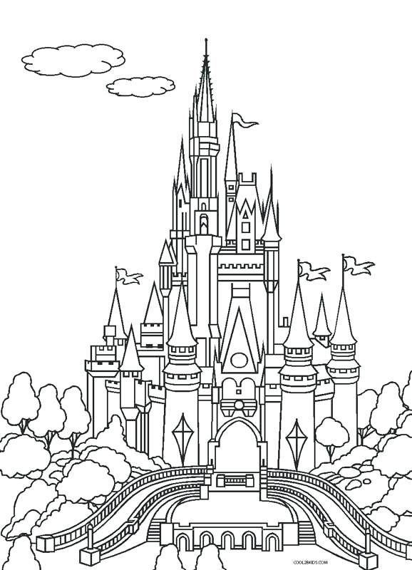 disney cinderella castle coloring pages
