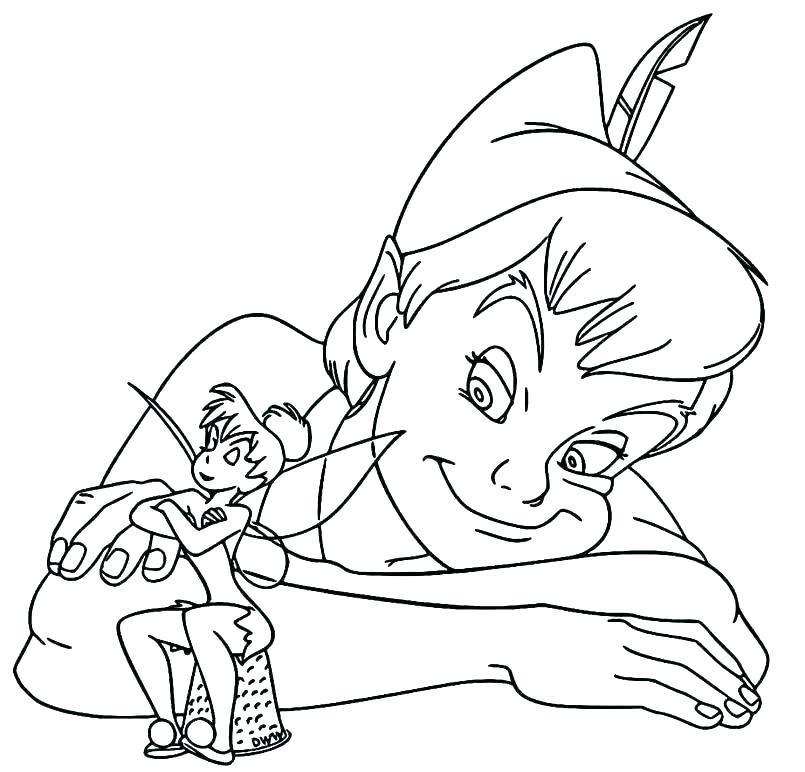 disney coloring pages peter pan at getdrawings free