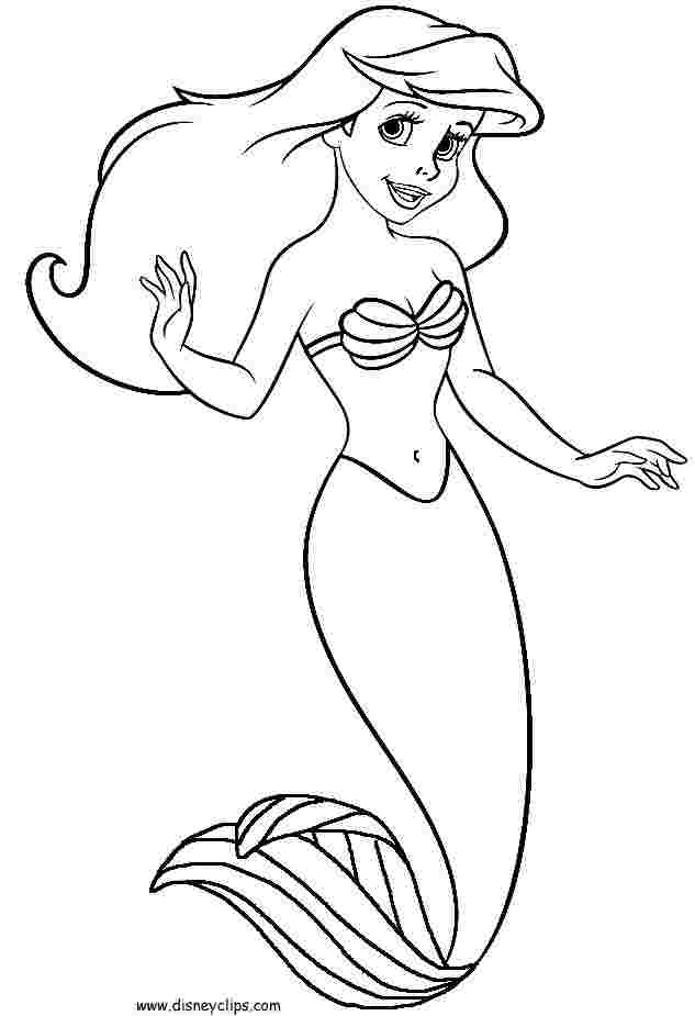 disney little mermaid printable coloring pages the little