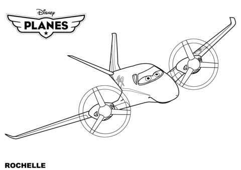 disney planes rochelle coloring page free printable