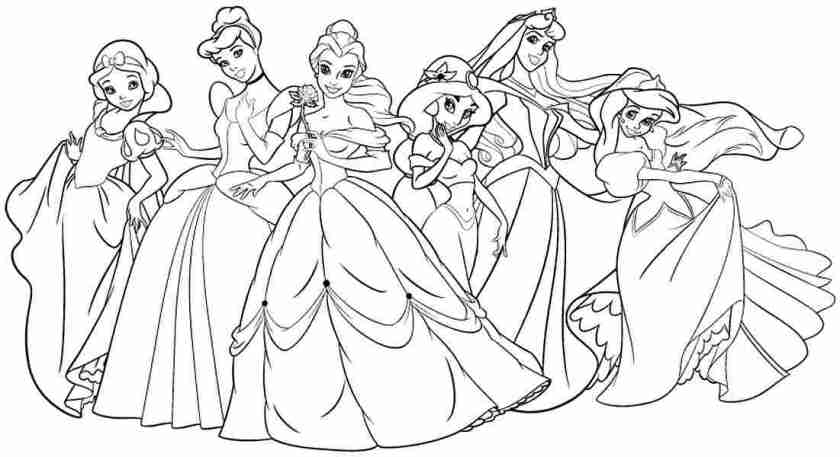 disney princess coloring pages to print at getdrawings
