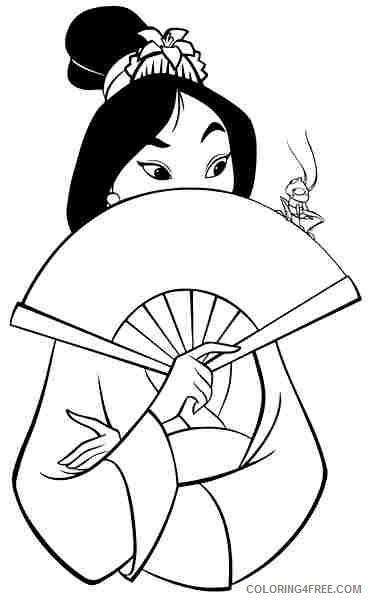 disney princess mulan coloring pages coloring4free