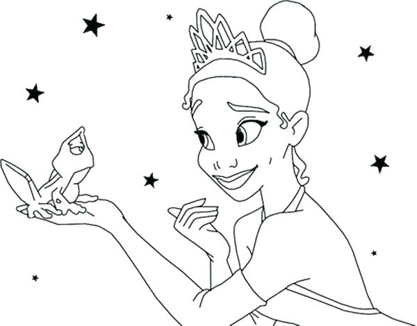 disney princess tiana coloring pages at getdrawings