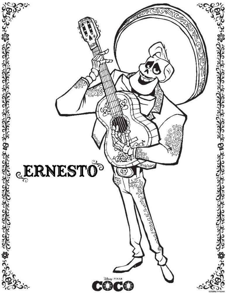 disneypixars coco coloring sheets more pginas para