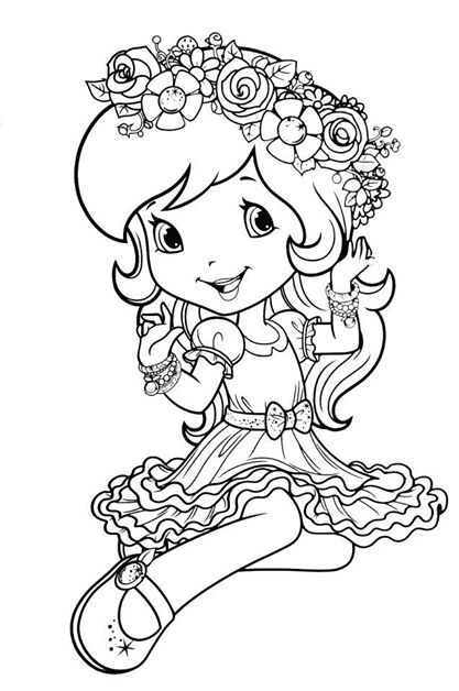 dn strawberry shortcake coloring page strawberry