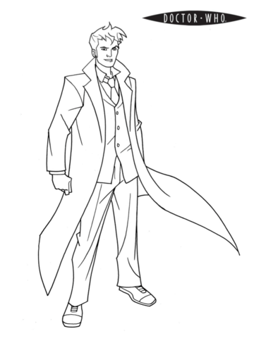 doctor who coloring page free printable coloring pages