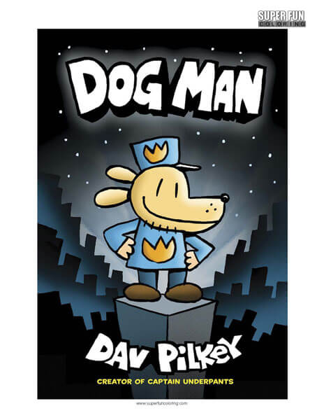 dogman coloring page super fun coloring