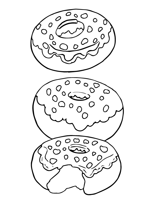 donut coloring pages books 100 free and printable