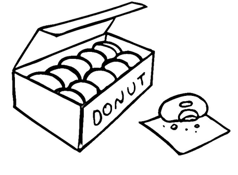 donuts coloring page free printable coloring pages