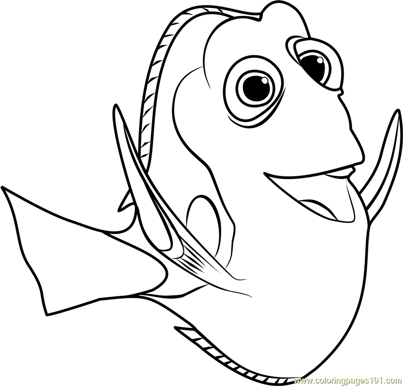 dory coloring page free finding dory coloring pages