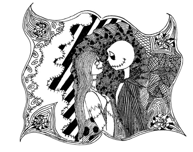 download free nightmare before christmas coloring pages 2019