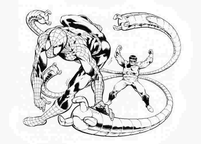 dr octopus coloring pages free spiderman the enemy doctor
