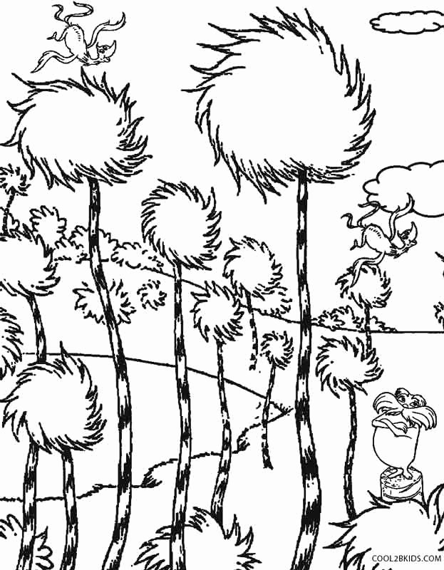 Lorax Coloring Pages Collection Whitesbelfast