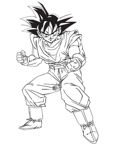 Goku Coloring Pages Pictures Whitesbelfast
