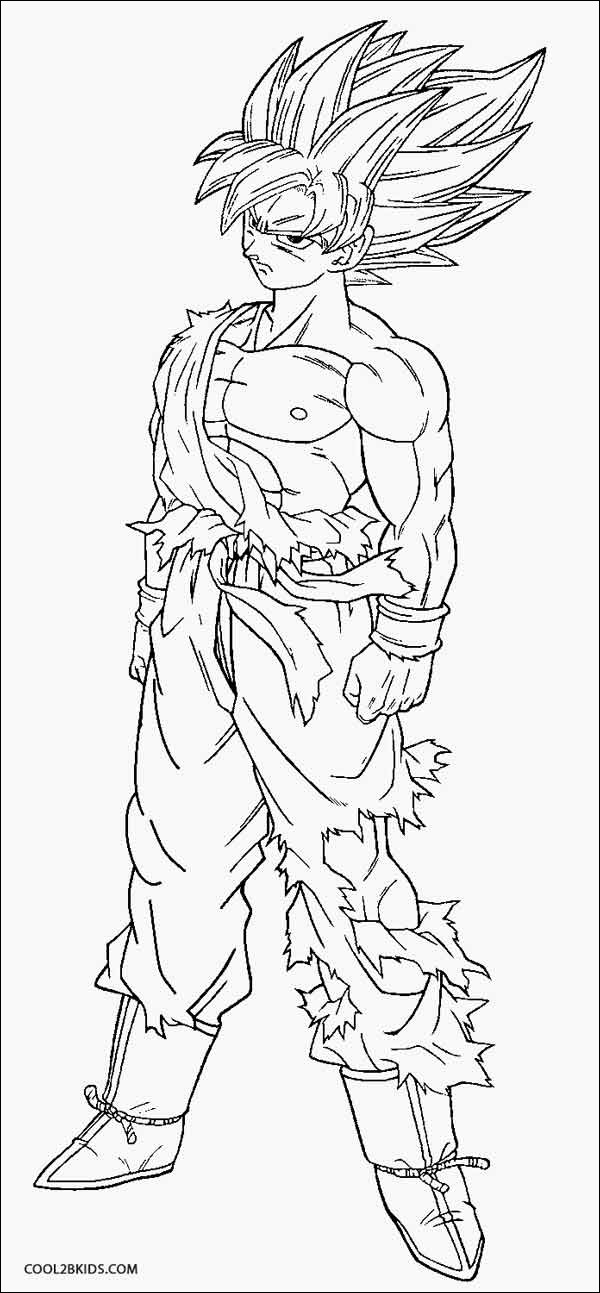 dragon ball z coloring page goku beautiful photos printable