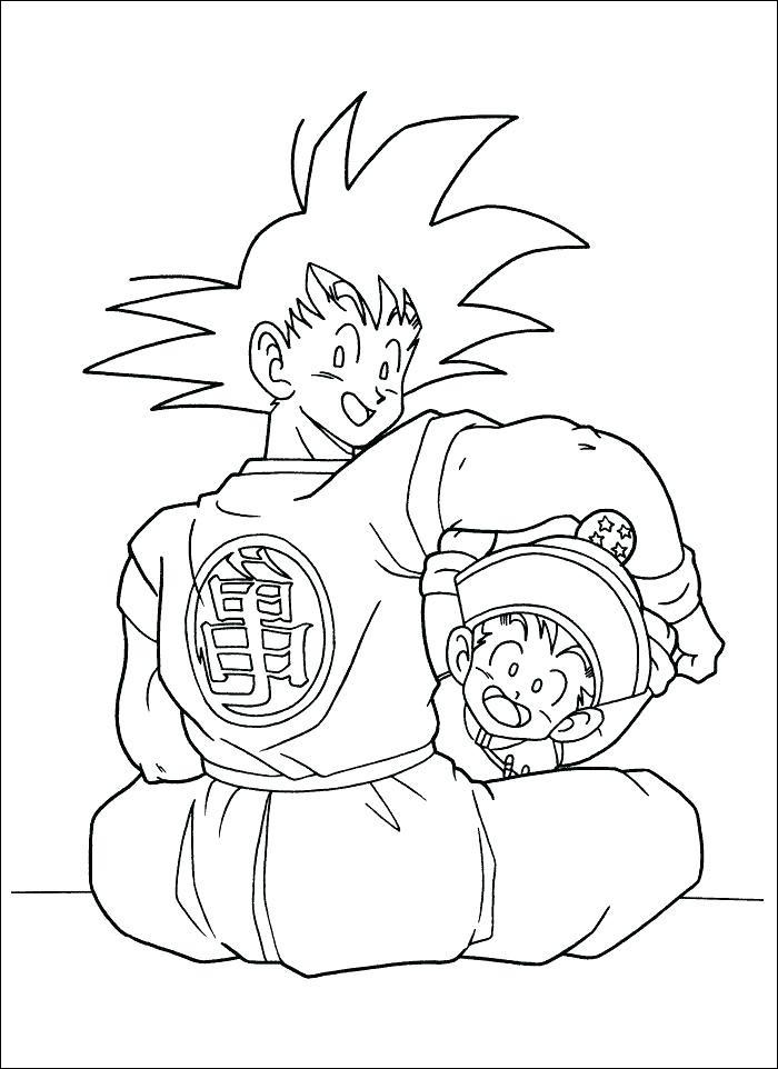 dragon ball z coloring page goku luxury gallery dragon ball