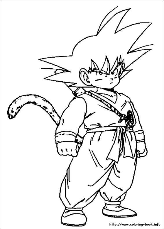 dragon ball z coloring pages clip art library