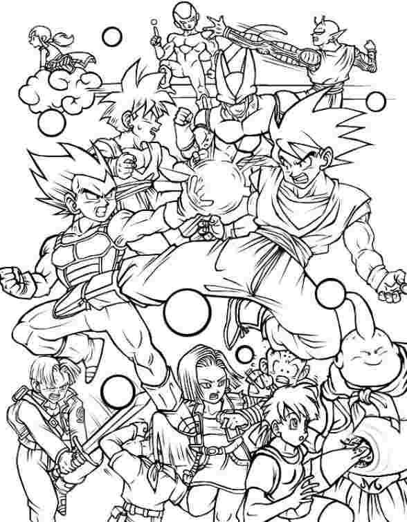 dragon ball z kai printable coloring pages goku coloring