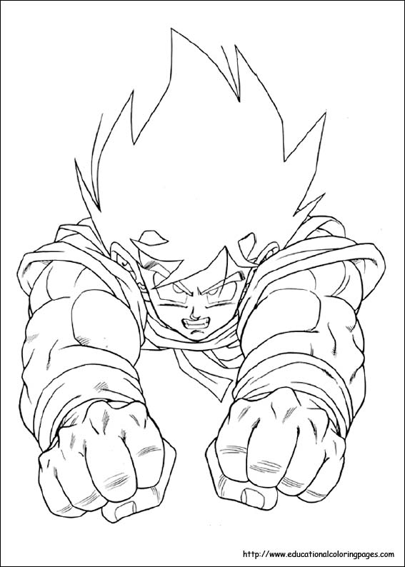 dragon ball z valentine coloring pages