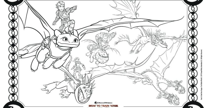 How To Train Your Dragon Coloring Pages Pictures ...