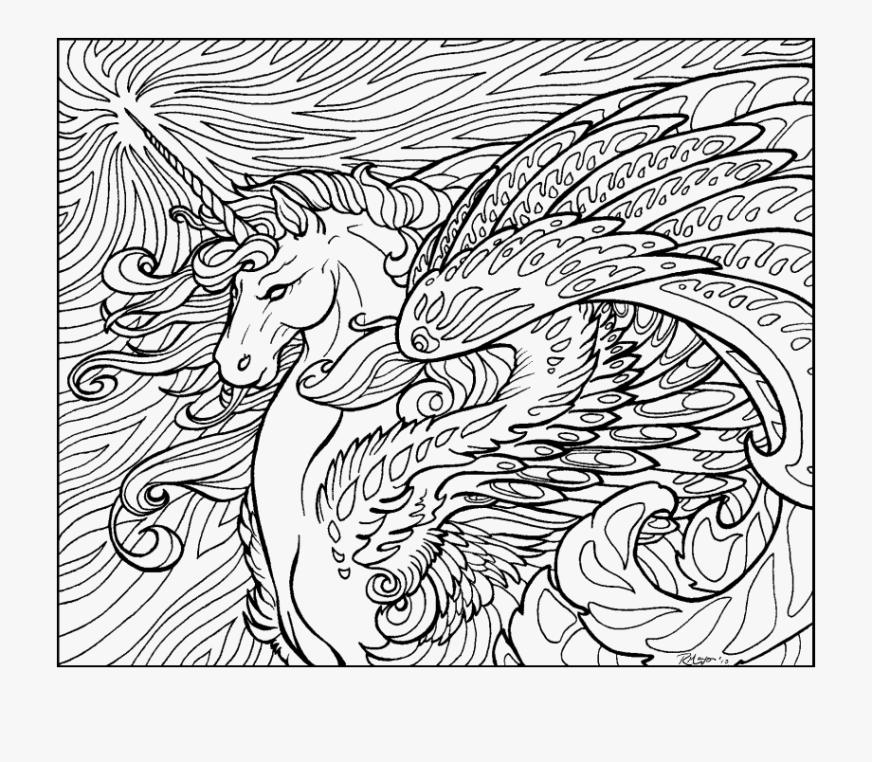 dragon unicorn coloring page printable dragon unicorn