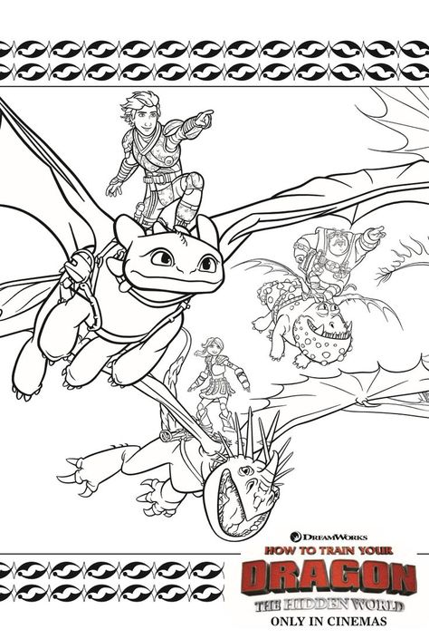 dragons coloring page from how to train your dragon 3 the
