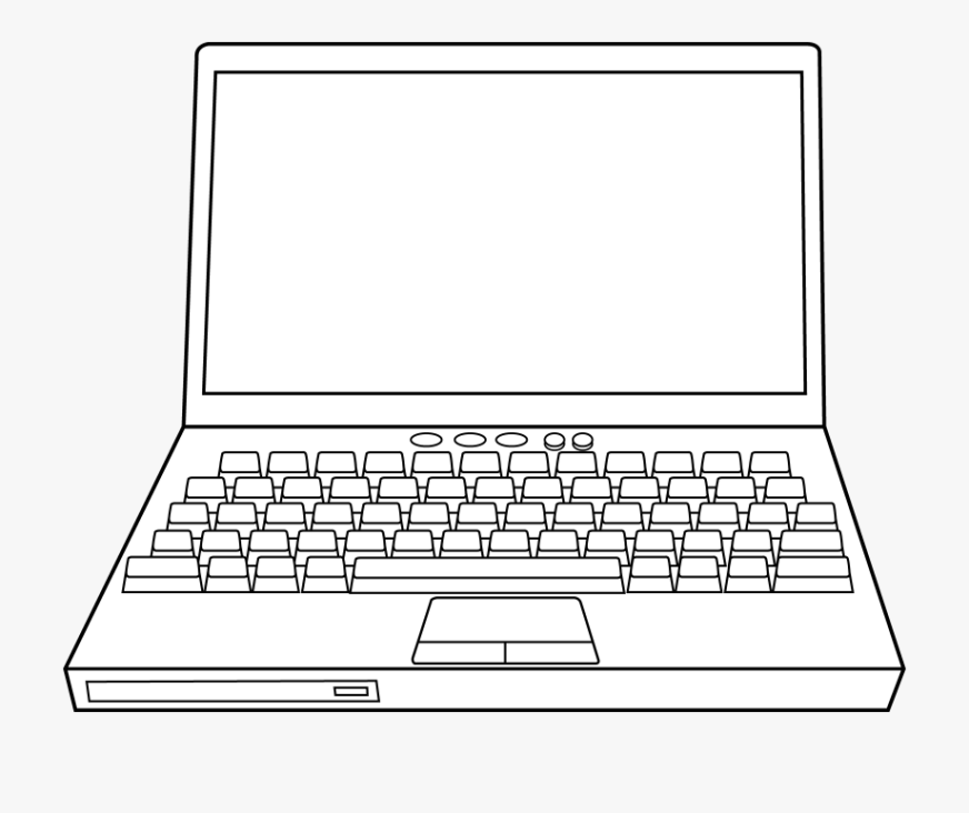 drawing computers line laptop computer coloring pages
