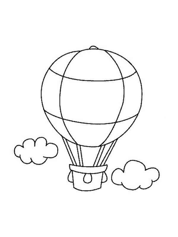 drawing hot air balloon coloring pages bulk color air