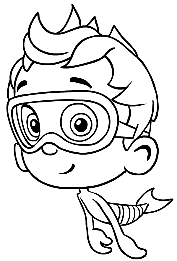 drawing of nonny from the bubble guppies coloring page