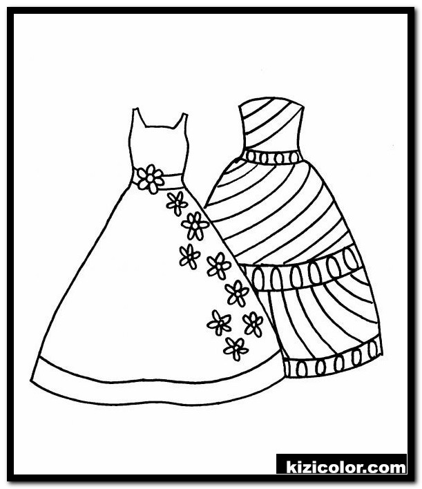 dress coloring pages 9 kizi free coloring pages for