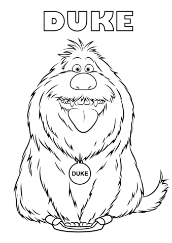 duke from the secret life of pets kifest free printable