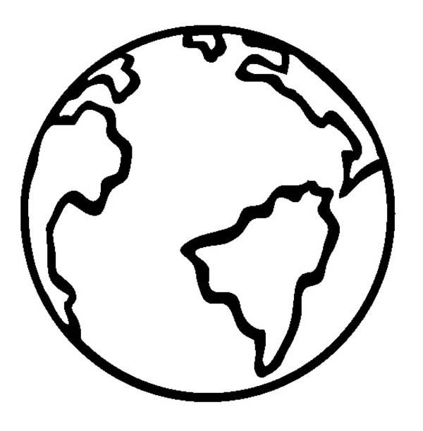 earth cartoon coloring pages