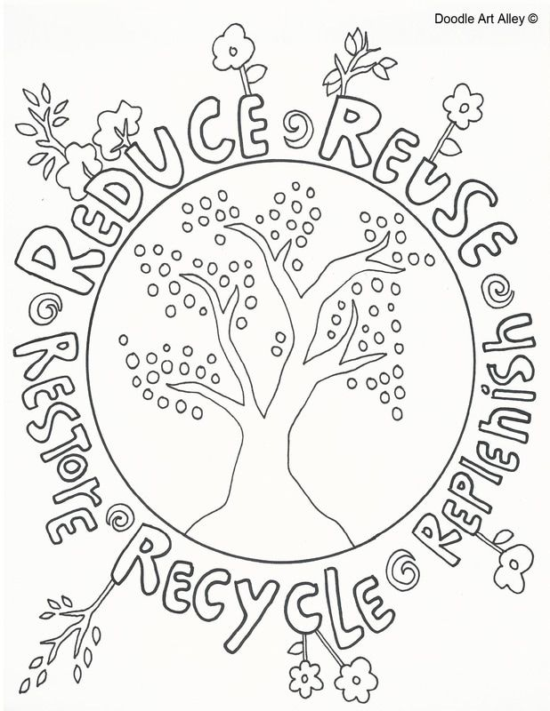 earth day coloring pages from doodle art alley print and