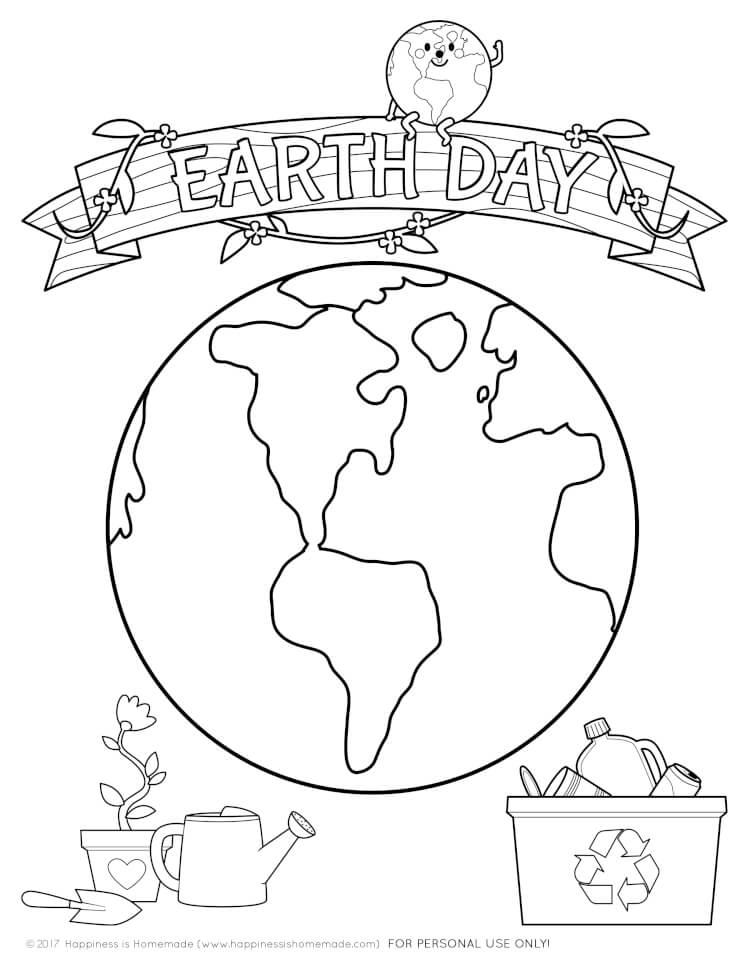 earth day kids crafts coloring pages happiness is homemade