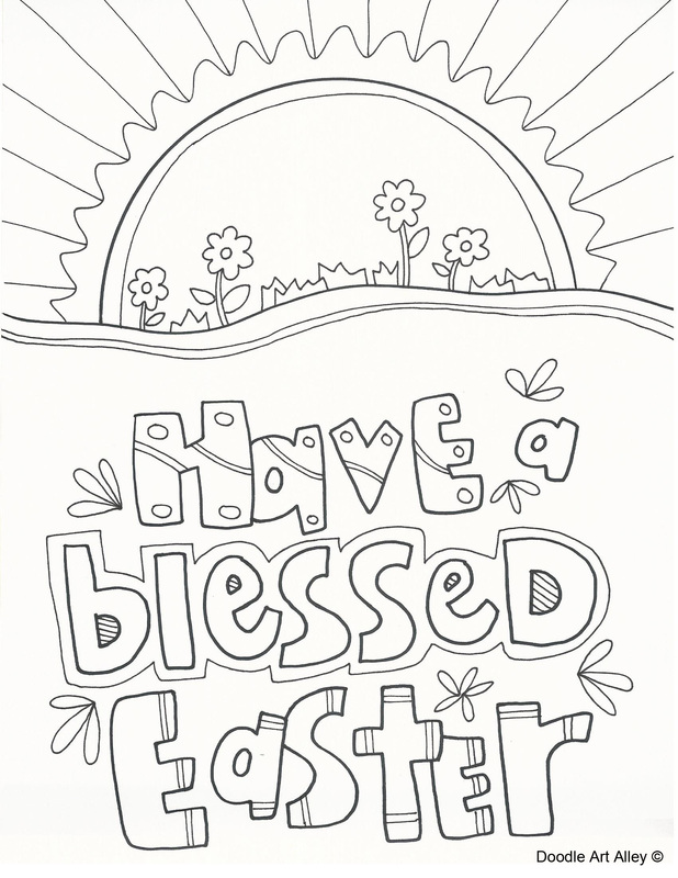 easter coloring pages religious doodles