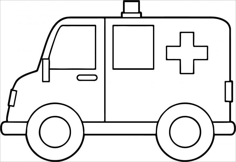 easy ambulance coloring pages to print coloringbay